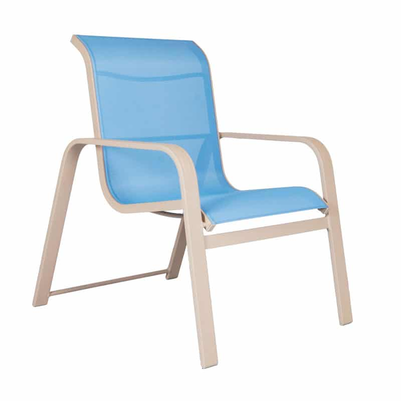 SEASIDE STACKABLE LOW BACK DINING CHAIR