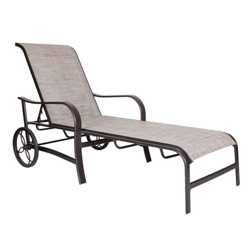 COASTAL GROVE CHAISE WITH WHEELS