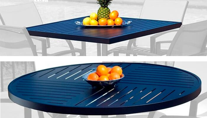 CONTRACT OUTDOOR FURNITURE PATTERNED TABLES